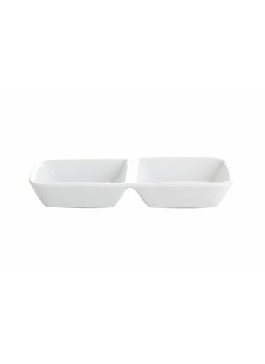 Porland Beyaz Çerez Tabağı 14 Cm Renkli